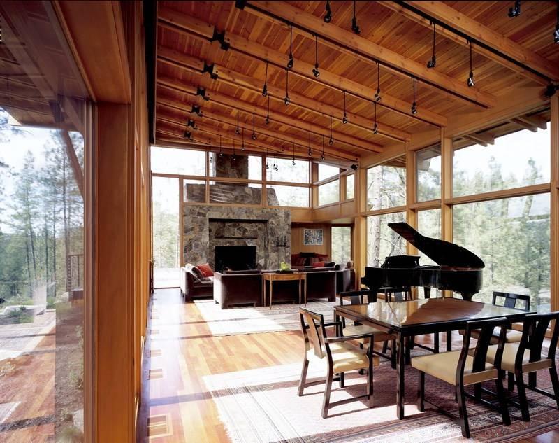 Интерьер деревянного домика