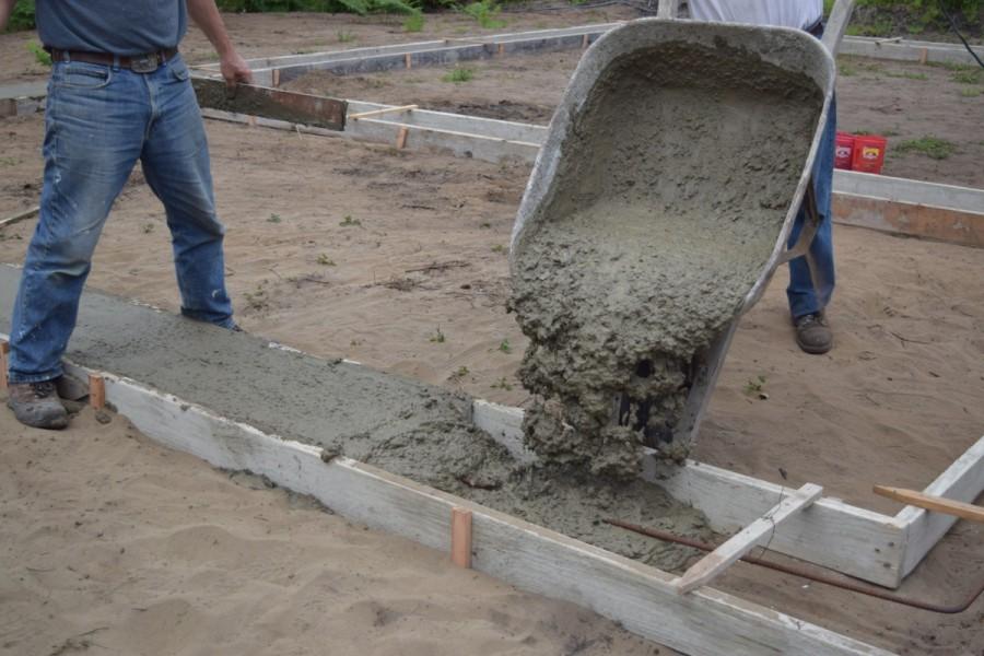 как сделать бетон для заливки фундамента