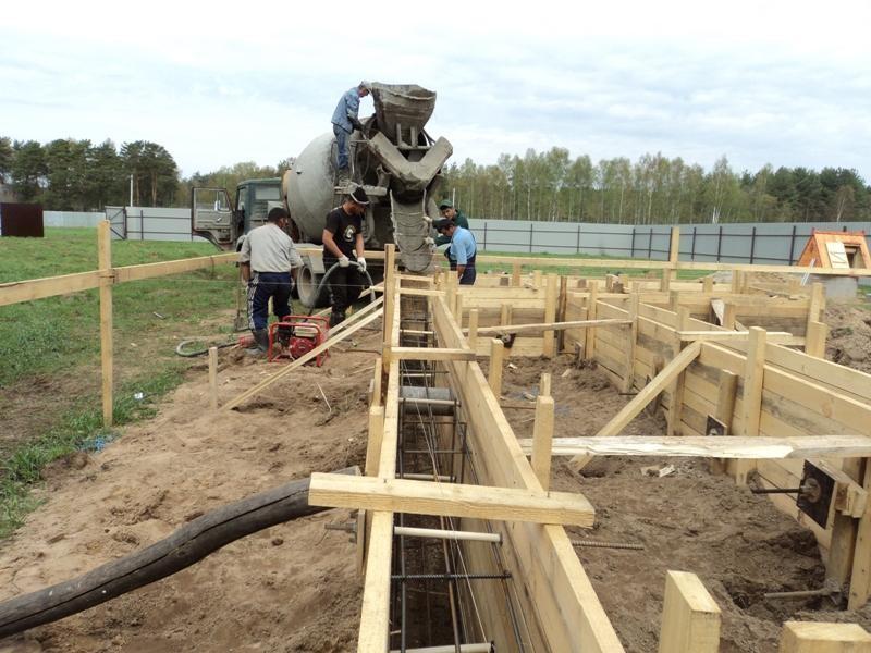 бетонирование без опалубки
