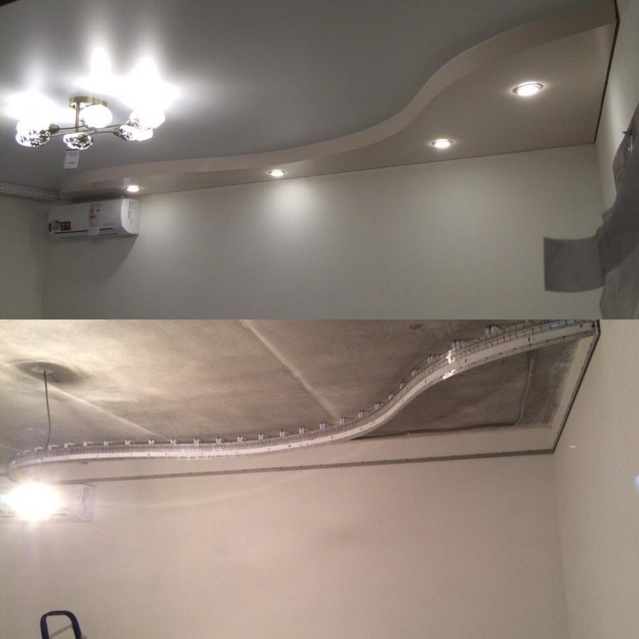 как делают двухуровневые натяжные потолки фото первый проморолик