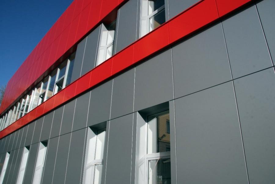 фасад из композитных панелей фото